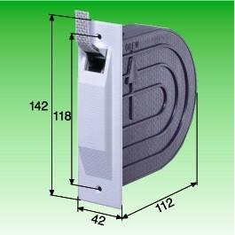 Mini-Einlaß-Gurtwickler mit Mauerkasten, für 15mm Gurt