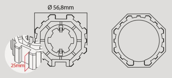 Adapterset C60H Serie 50 für Motorserie FCS