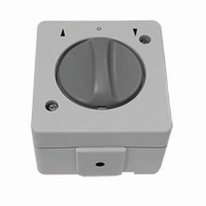 Knebelschalter/-taster, Aufputz,1-polig, grau/lichtgrau IP44