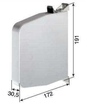 Mini-Gurtwickler, aufschraubbar, für 15mm Gurt, braun